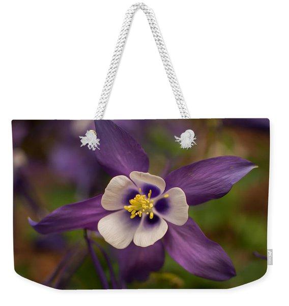 Purple Columbine Weekender Tote Bag