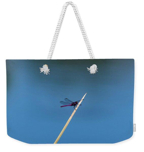 Purple Dragonfly Weekender Tote Bag