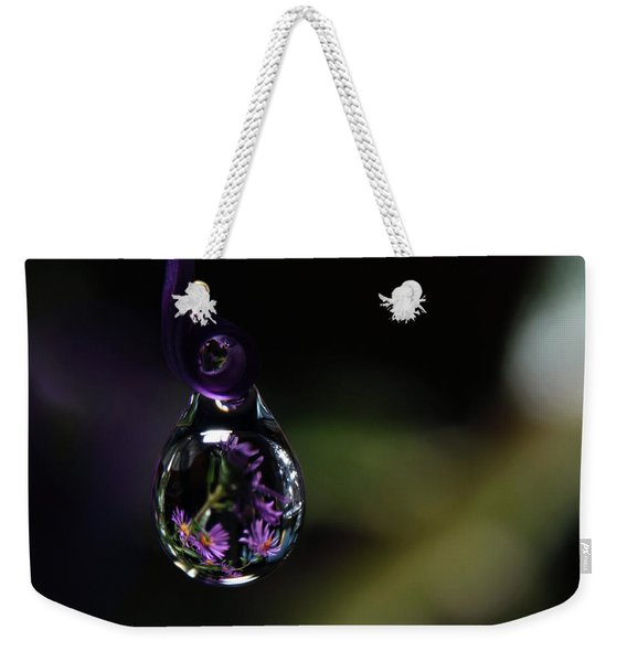 Weekender Tote Bag featuring the photograph Purple Dreams by Michelle Wermuth