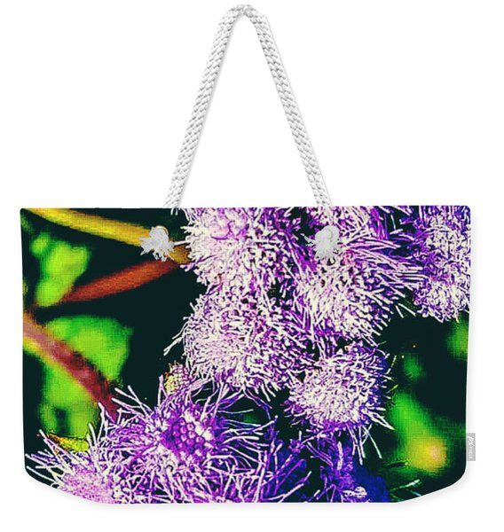 Purple Fur Weekender Tote Bag