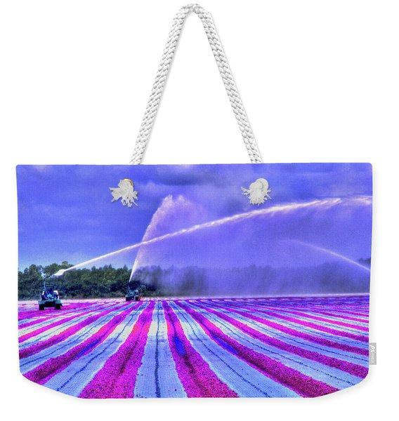 Weekender Tote Bag featuring the photograph Purple Grain by Wayne King