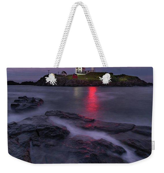 Purple Haze At Nubble Lighthouse Weekender Tote Bag