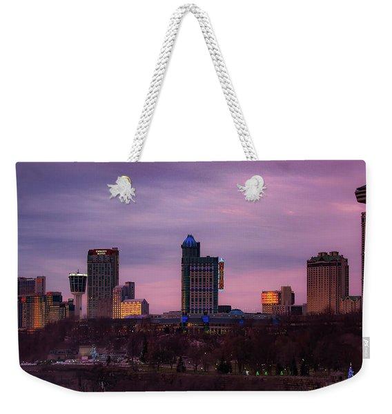 Purple Haze Skyline Weekender Tote Bag