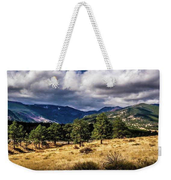 Purple Mountains Weekender Tote Bag