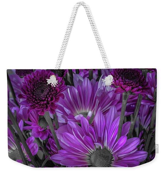 Purple Power Chrysanthem Selective Colorum  Weekender Tote Bag