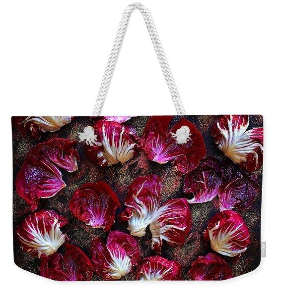 Purple Radicchio Weekender Tote Bag