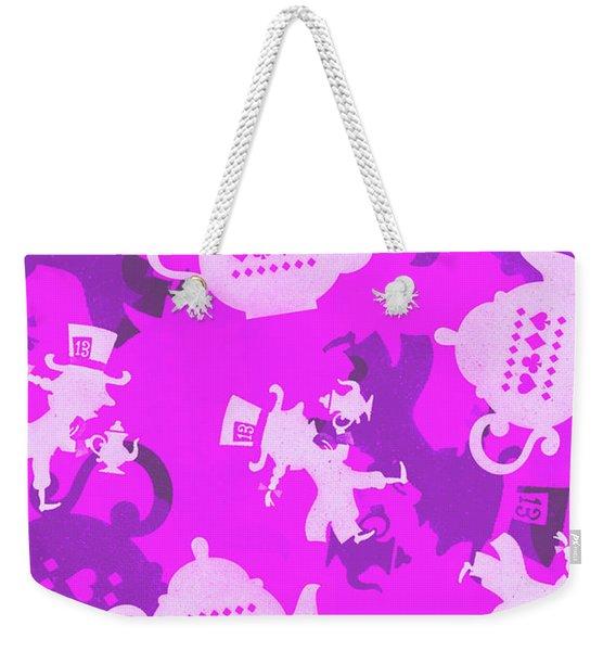 Purple Tea Party Weekender Tote Bag