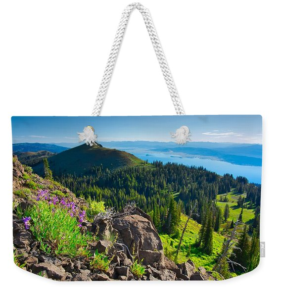 Purple Vista Weekender Tote Bag
