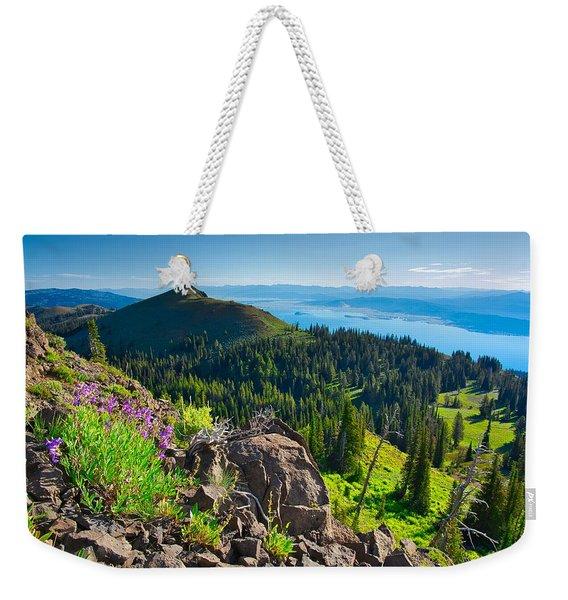 Purple Vista Weekender Tote Bag