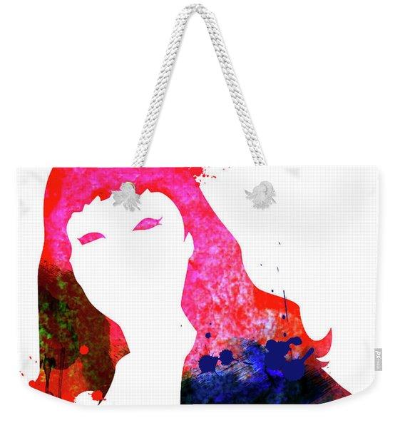 Pussy Cat Watercolor Weekender Tote Bag