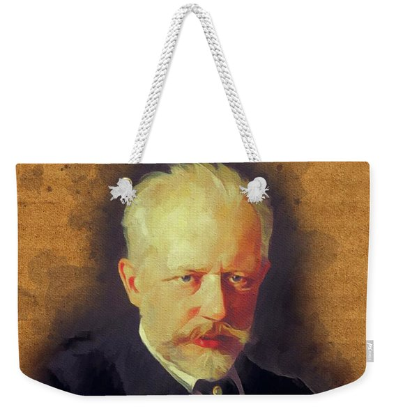 Pyotr Ilyich Tchaikovsky, Music Legend Weekender Tote Bag