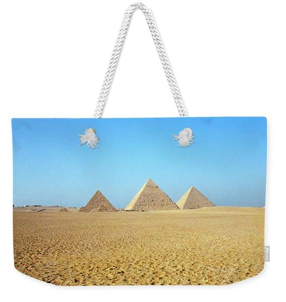 Pyramids Giza Egypt Weekender Tote Bag