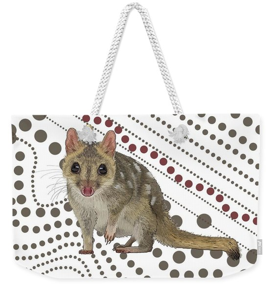 Q Is For Quoll Weekender Tote Bag