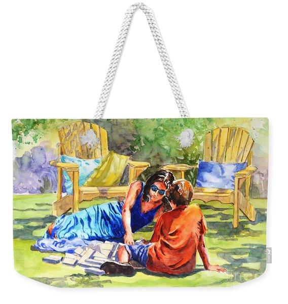 Quality Time Weekender Tote Bag