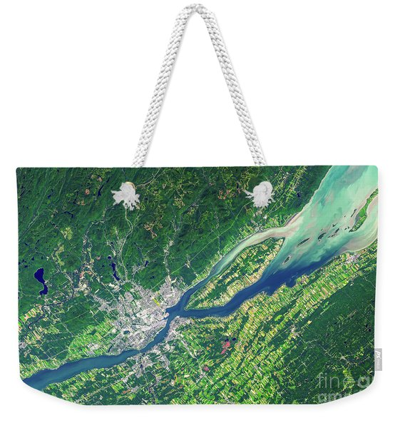 Quebec City From Space Weekender Tote Bag