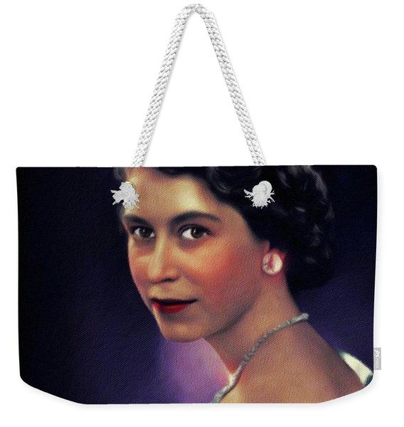 Queen Elizabeth II Weekender Tote Bag