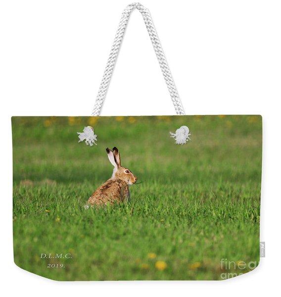 Rabbit Chews Weekender Tote Bag