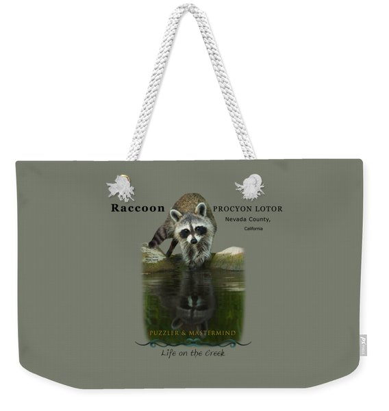 Raccoon Puzzler And Mastermind Weekender Tote Bag