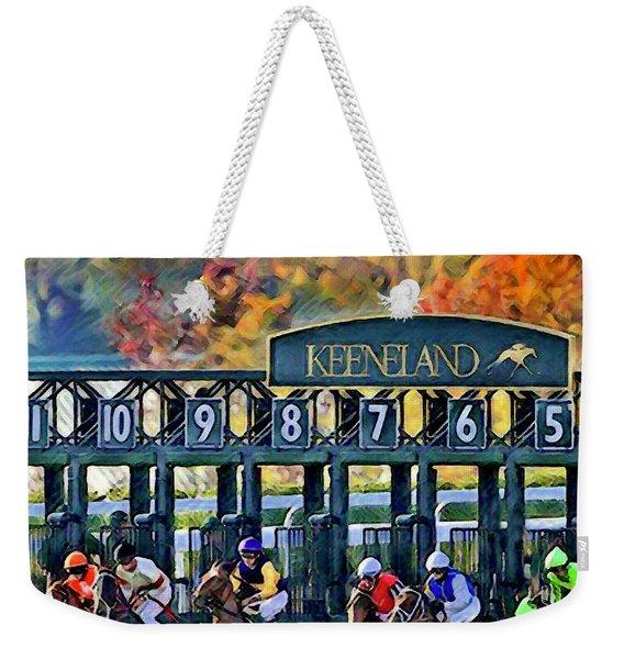 Fall Racing At Keeneland  Weekender Tote Bag