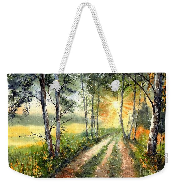 Radiant Sun On The Autumn Sky Weekender Tote Bag