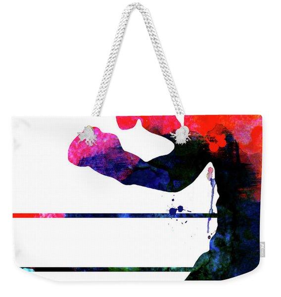 Raging Bull Watercolor Weekender Tote Bag