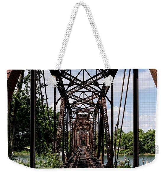Railroad Bridge 6th Street Augusta Ga 1 Weekender Tote Bag