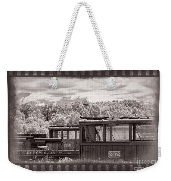 Railroad Cars Weekender Tote Bag
