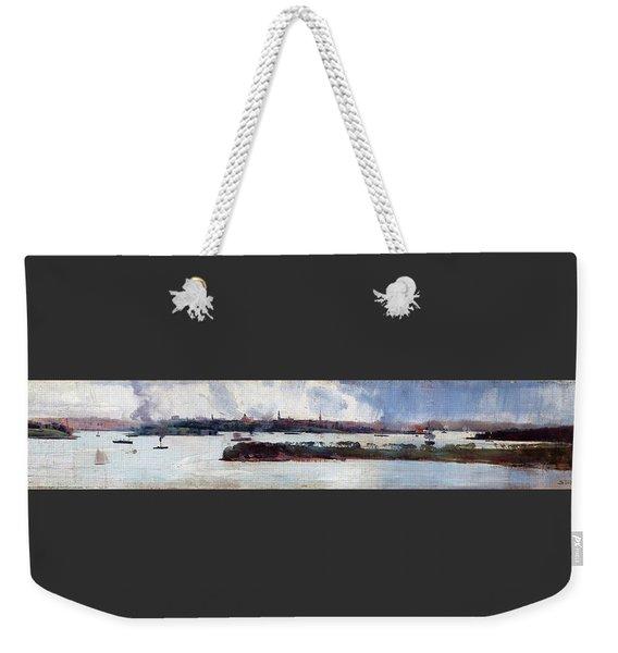 Rain Over Sydney Harbour - Digital Remastered Edition Weekender Tote Bag