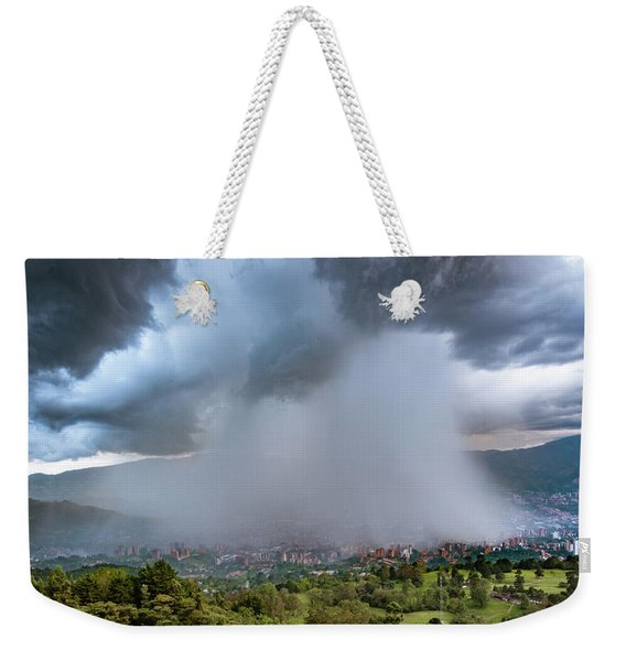 Rain Storm Over Medellin Weekender Tote Bag