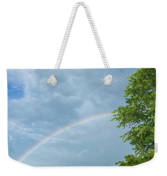 Rainbow And A Tree Weekender Tote Bag