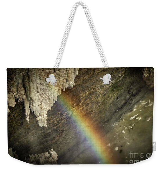Rainbow At Letchworth Weekender Tote Bag