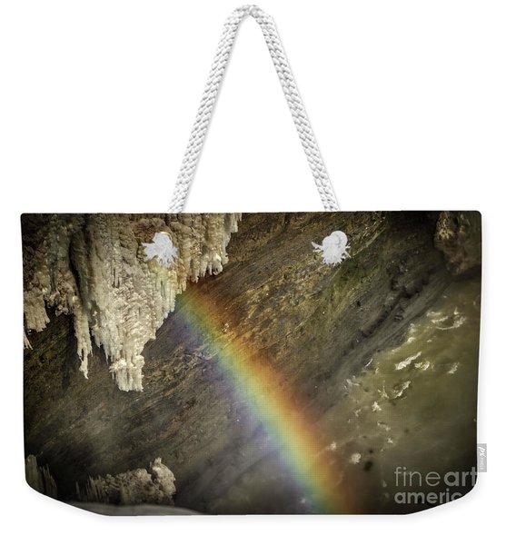 Rainbow At Letchworth Weekender Tote Bag