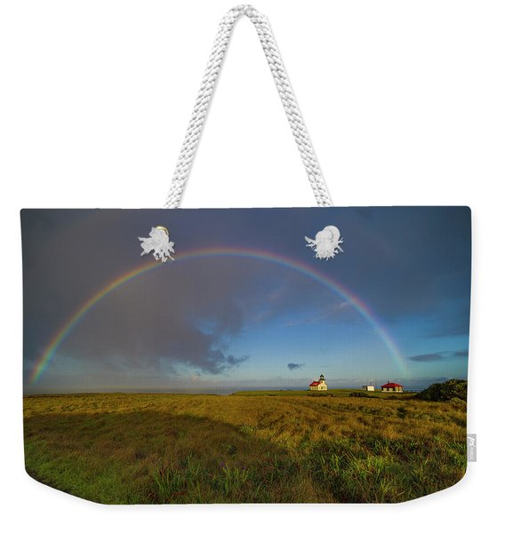Rainbow At Point Cabrillo Weekender Tote Bag