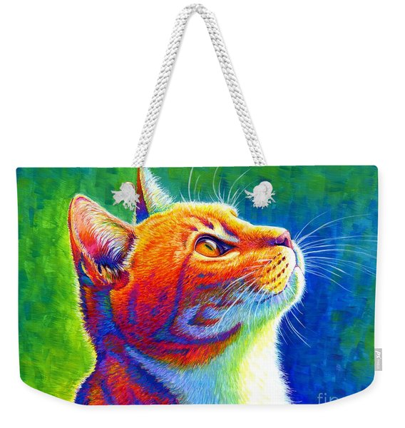 Rainbow Cat Portrait Weekender Tote Bag