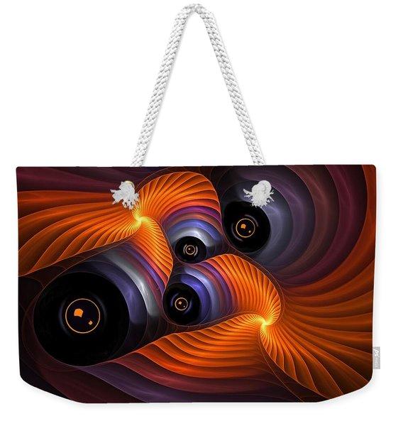 Rainbow Eyes Weekender Tote Bag