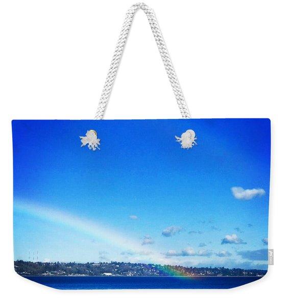 Rainbow In Blue Weekender Tote Bag