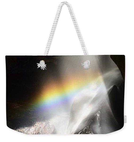 Rainbow In Broken Rock Falls Weekender Tote Bag