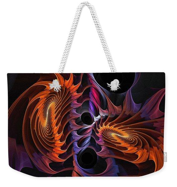Rainbow Incursion Weekender Tote Bag