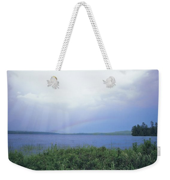 Rainbow Over Raquette Lake Weekender Tote Bag