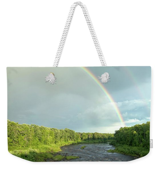 Rainbow Over The Littlefork River Weekender Tote Bag