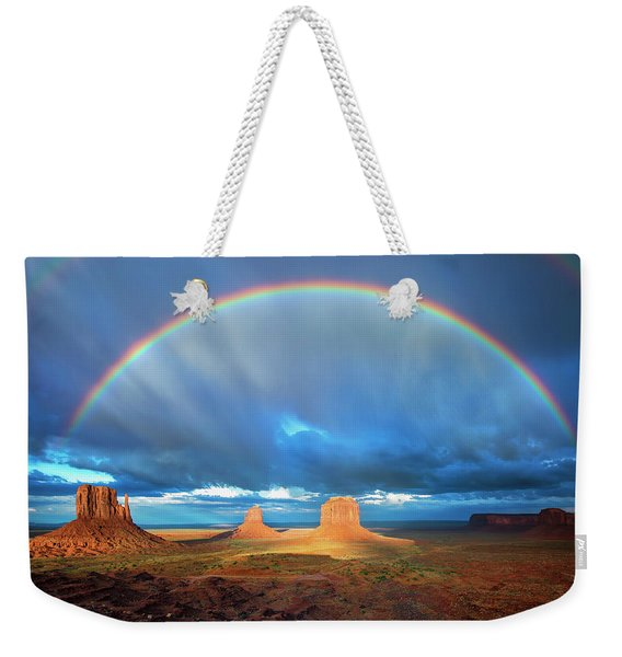 Rainbow Over The Mittens Afternoon Weekender Tote Bag