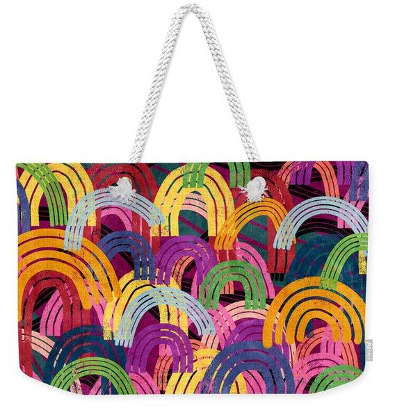 Rainbow Party- Art By Linda Woods Weekender Tote Bag