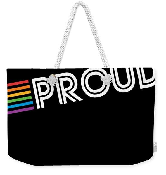 Weekender Tote Bag featuring the digital art Rainbow Proud Lgbtq Gay Pride by Flippin Sweet Gear