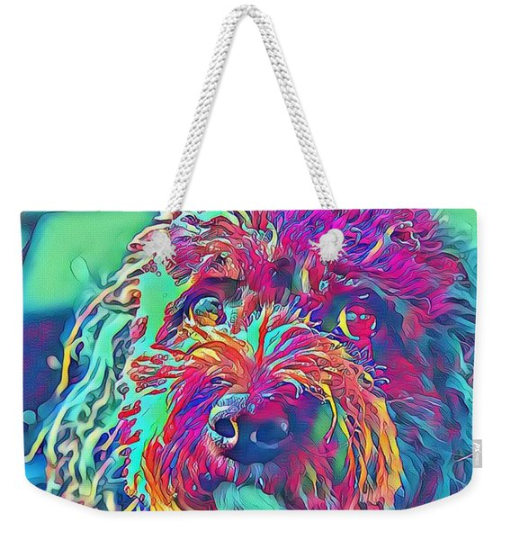 Rainbow Pup Weekender Tote Bag
