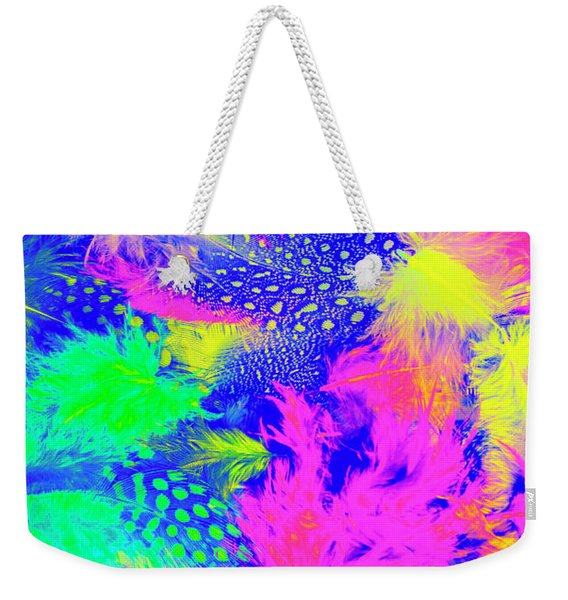 Rainbow Radiance Weekender Tote Bag