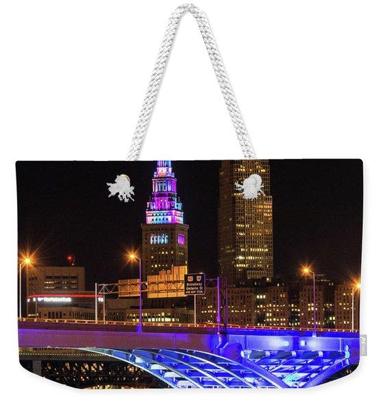 Rainbow Tower In Cleveland Weekender Tote Bag