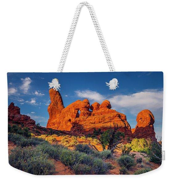 Rainbow Turret Weekender Tote Bag
