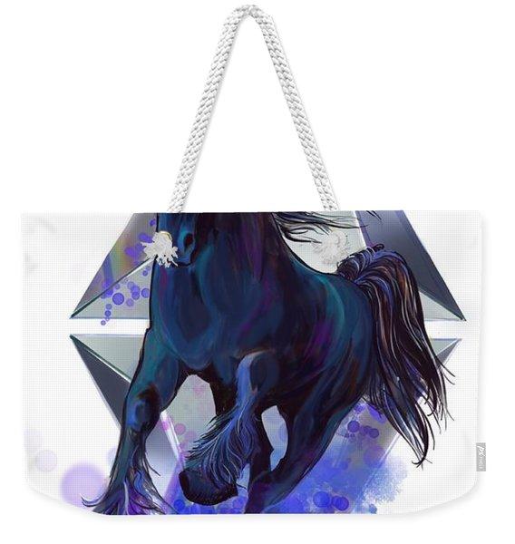 Rainbow Unicorn Weekender Tote Bag