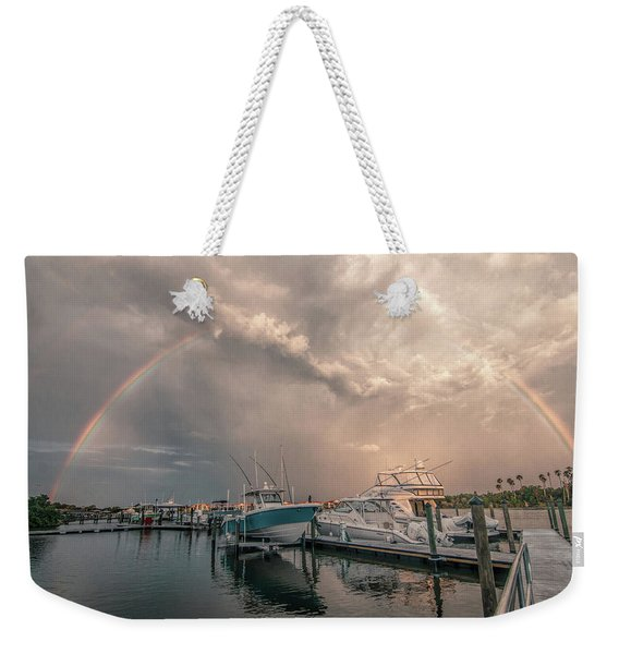 Rainbow Vista Weekender Tote Bag