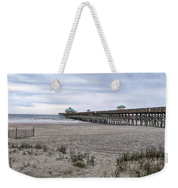 Rainy Beach Day Weekender Tote Bag